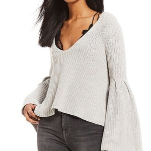Free People Bell Sleeve Pullover Sweater